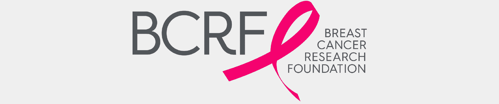 nonprofit charity logo of breast cancer research foundation on a tan background