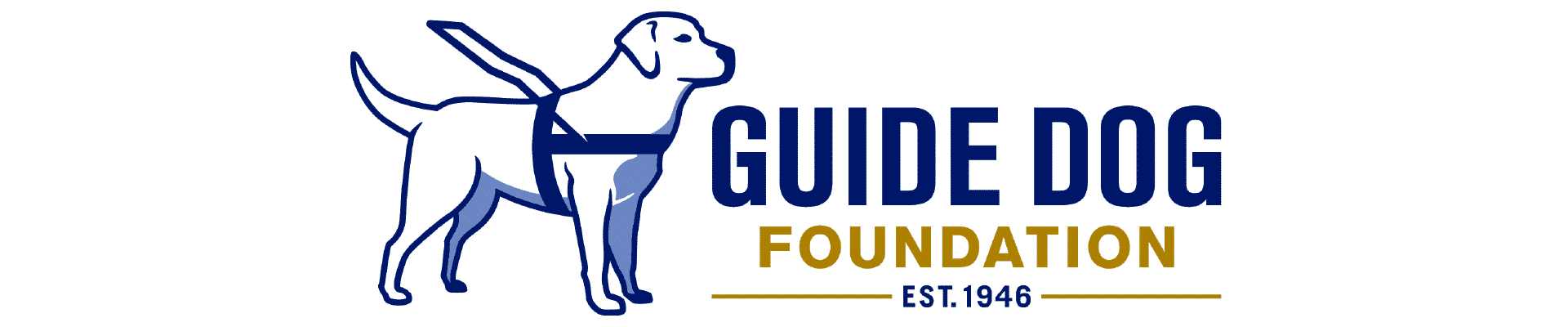 nonprofit charity logo of the guide dog foundation on a white background