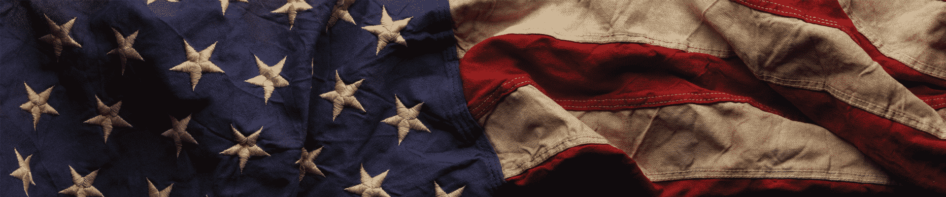 red white and blue vintage american flag banner