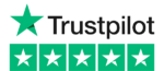 Trustpilot Logo with five star reviews of Big Sky Recycling